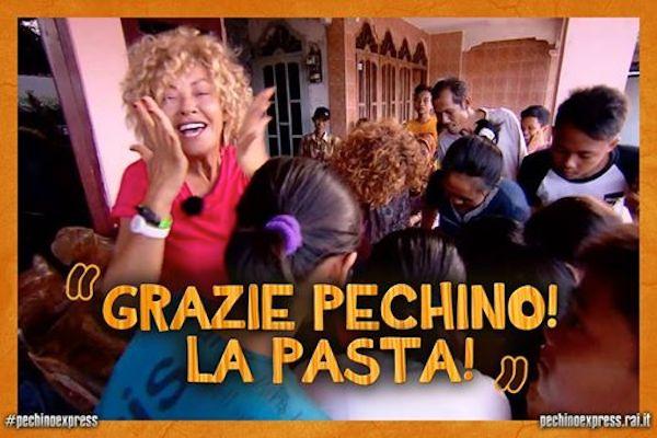 pechino express, puntata 13 ottobre, la pasta, eva grimaldi