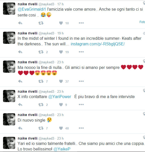 naike-rivelli-su-twitter-sono-single
