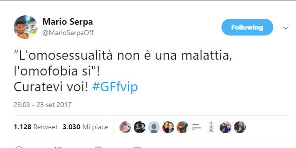 tweet-mario-serpa-omofobia-grande-fratello-vip