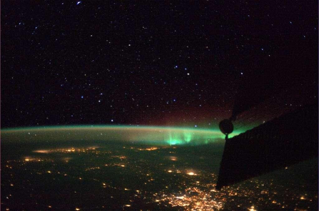 L'aurora boreale nello scatto di Luca Parmitano