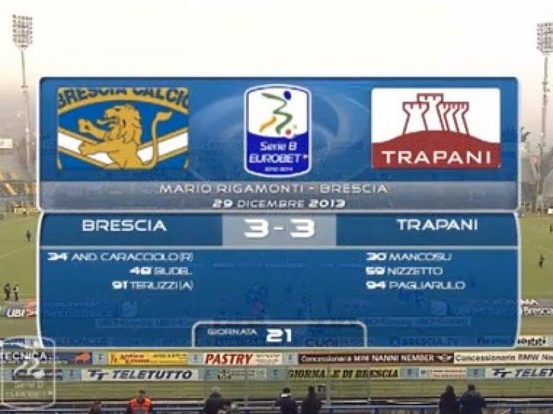 Highlights Brescia-Trapani 3-3 sintesi immagini