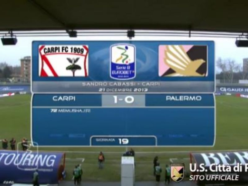 Carpi-Palrmo 1-o highlights sintesi