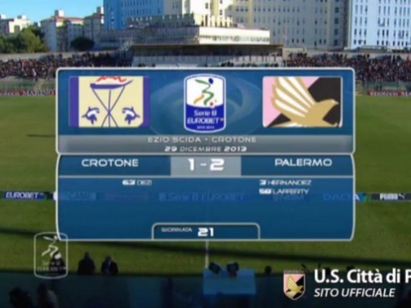 Highlights Crotone-Palermo 1-2 sintesi immagini