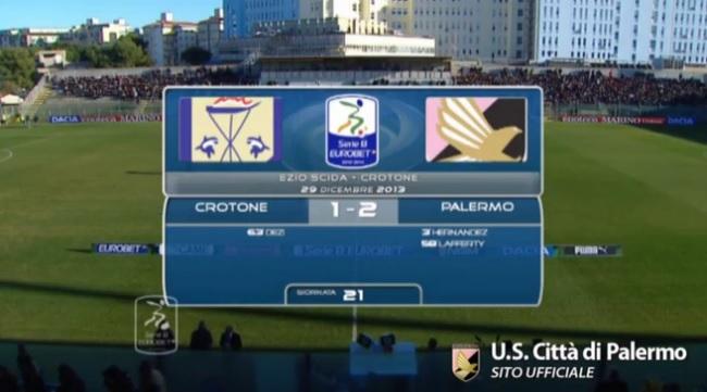 Gli highlights di Crotone-Palermo 1-2