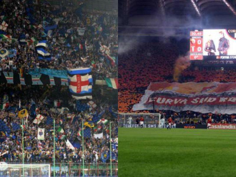 Cori razzisti, chiuse le curve di Inter e Roma