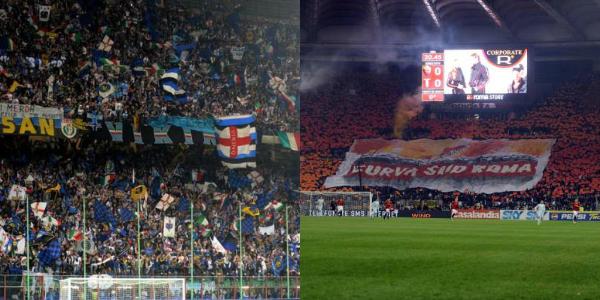 Cori razzisti, chiuse le curve di Inter e Roma   Sospesa la pena per quella della Lazio