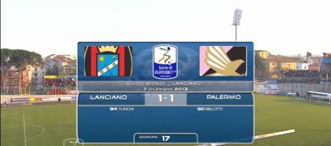 Gli highlights di Lanciano-Palermo 1-1