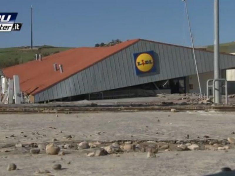 Supermercato franato a Matera