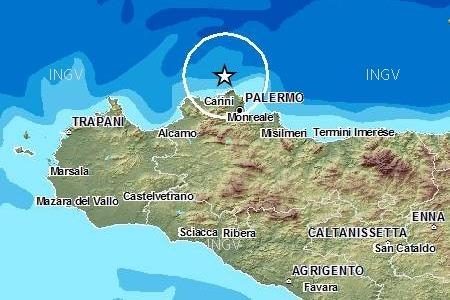 Scossa di terremoto (2,9) al largo di Isola delle Femmine