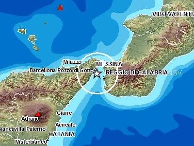 Terremoto a Messina del 23 dicembre 2013 magnitudo 4