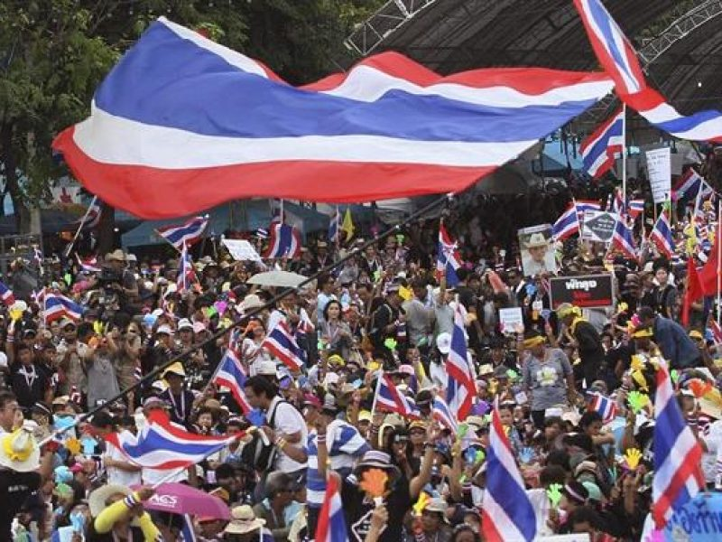 proteste anti-governative in Thailandia