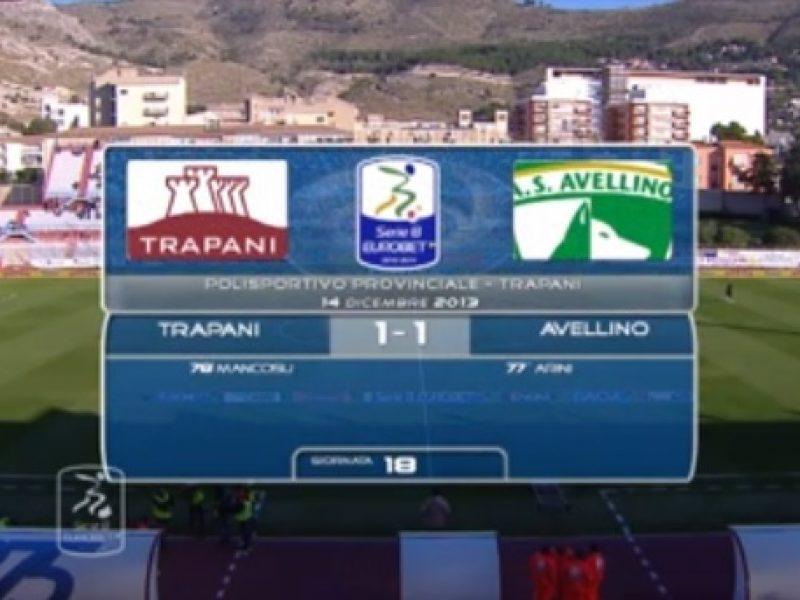 Trapani-Avellino 1-1 Arini, Mancosu
