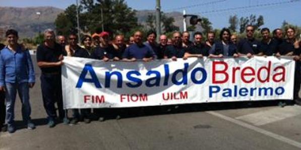 AnsaldoBreda, vertice in Prefettura a Palermo | Lavoratori in sit in per protestare contro la Cig