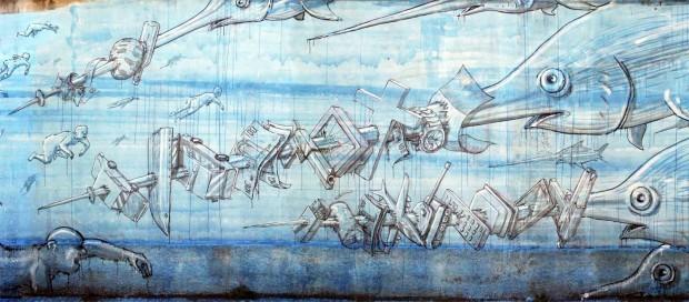 """I murales mondiali del writer """"Blu"""" tra i migliori al mondo"""
