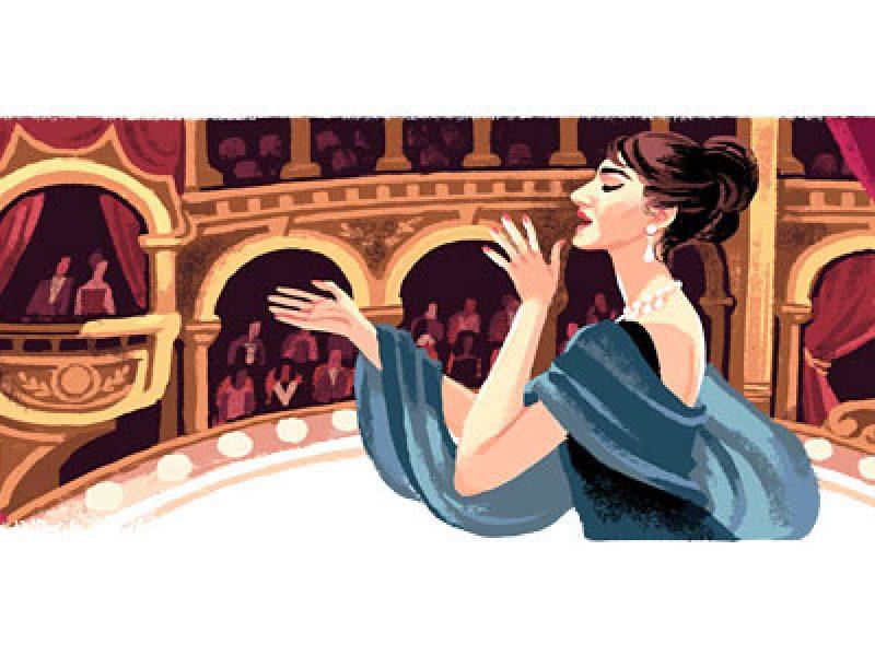 doodle maria callas 90 birthday