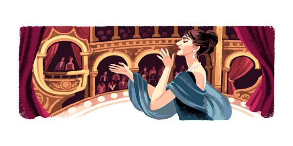 Google festeggia la Divina: 90 anni fa nasceva Maria Callas