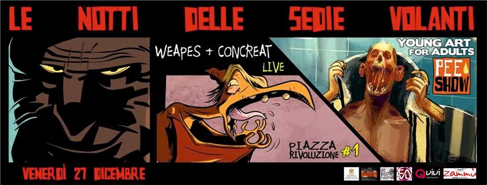 """""""Le notti delle Sedie Volanti"""", arte e musica a Piazza Rivoluzione   Serate on the road nel cuore di Palermo"""