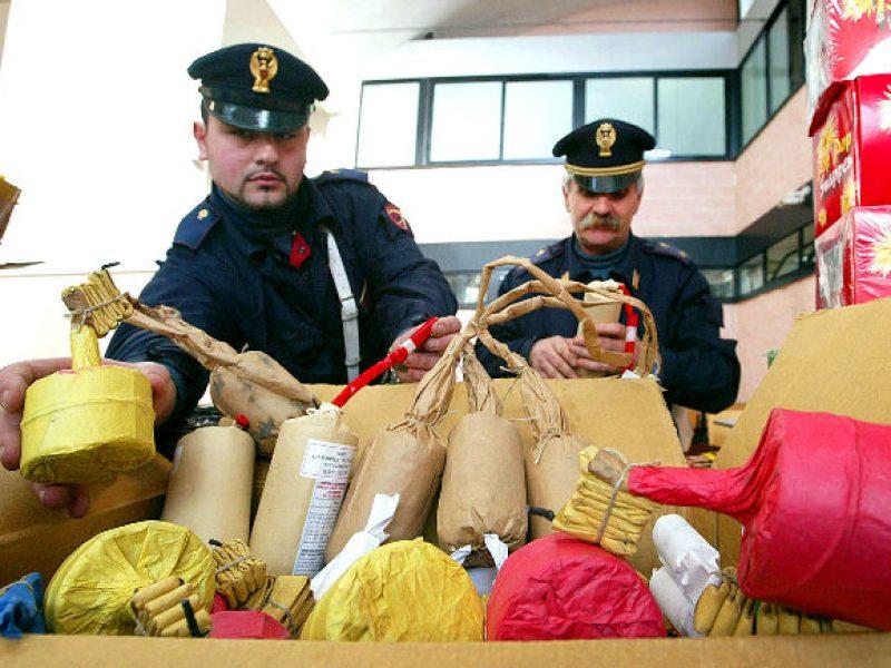 palermo sequestro materiale esplosivo, mercatino piazzale giotto, sequestro botti, materiale esplosivo, palermo