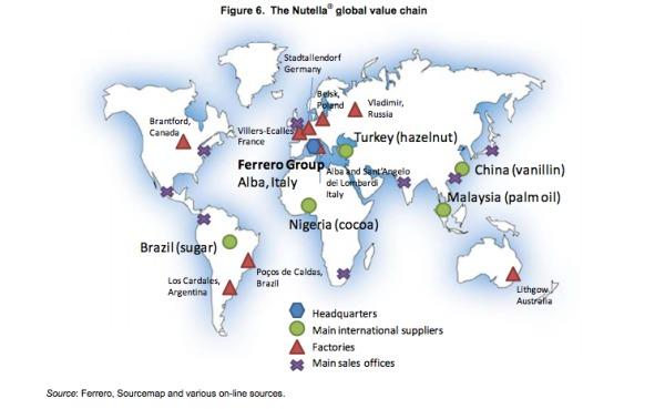 nutella ocse cibo globalizzato