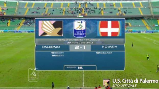 Gli highlights di Palermo-Novara 2-1