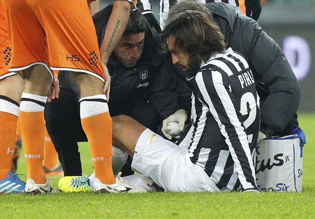 Infortunio al ginocchio per Pirlo, fuori sei settimane | Tegola in casa Juve