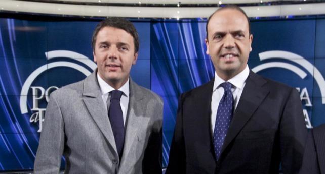 Tra Alfano e Renzi è già sfida tra candidati | Si accende il botta e risposta mediatico
