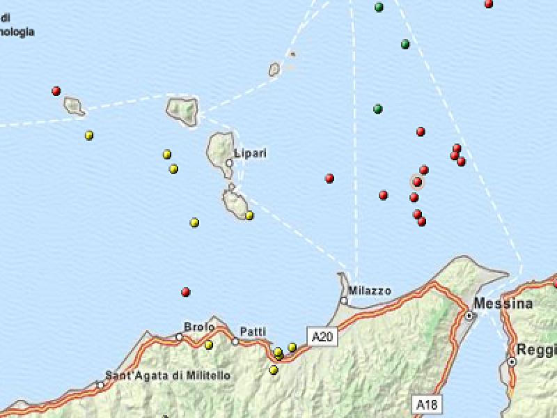 terremoto eolie 5 dicembre