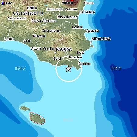 Terremoti, notte intensa in Sicilia | A largo di Noto scossa di magnitudo 4.1