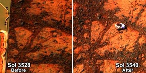 Opportunity scopre una misteriosa roccia su Marte