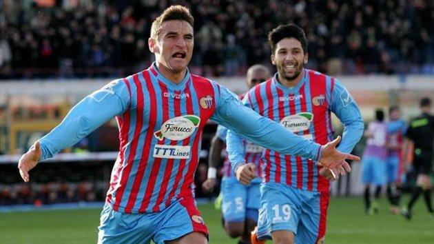 Catania-Sampdoria 2-1, Bergessio e Leto tengono a galla i siciliani