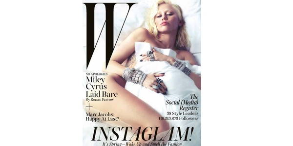 Miley Cyrus nuda e in versione biondo platino per W Magazine /FOTO