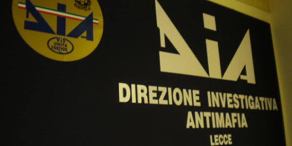 La Dia di Lecce sequestra beni per 2,5 milioni