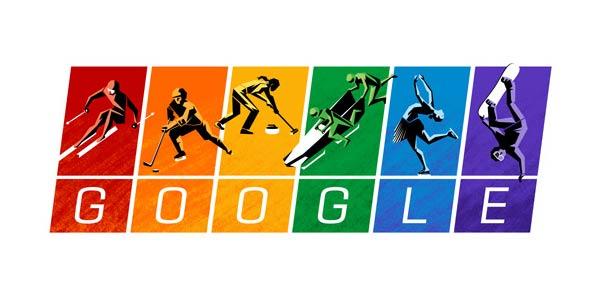 Google celebra i Giochi Olimpici Invernali con un doodle