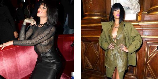 Rihanna con seno in vista per la Fashion Week francese /FOTO