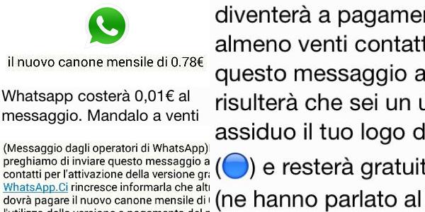 WhatsApp non sarà a pagamento, anche se inoltri il messaggio a 20 persone
