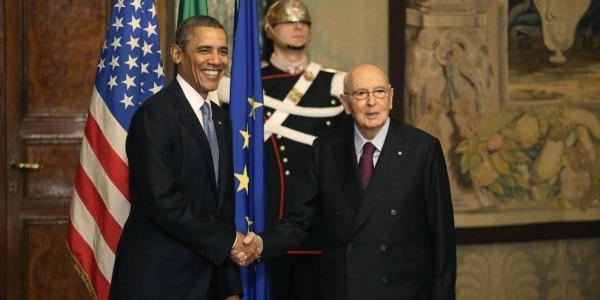 Barack Obama a colloquio con Napolitano | L'incontro è durato venti minuti