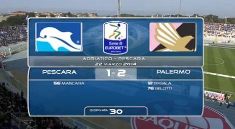Gli highlights di Pescara-Palermo 1-2