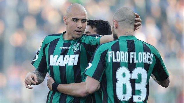 Sassuolo-Catania 3-1, siciliani a due facce | Avanti con Bergessio, travolti nella ripresa