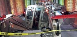 Treno deraglia chicago aeroporto o hare scale mobili cta 32 feriti