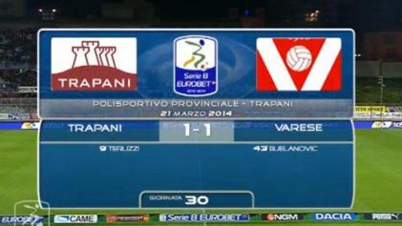 Gli highlights di Trapani-Varese 1-1