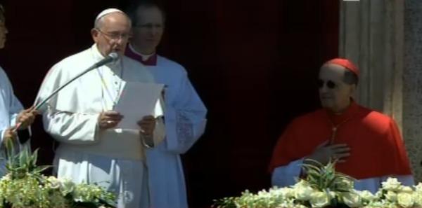 """""""Sconfiggere la fame e fermare la guerra""""   L'augurio di Papa Francesco per la Pasqua"""