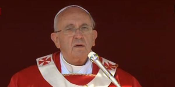 Papa Francesco benedice palme e ulivi | Omelia a braccio per la domenica delle Palme