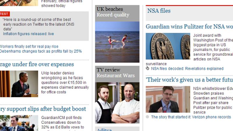 Pulitzer, premiati Guardian e Washington Post | Vince lo scoop su Snowden e il datagate