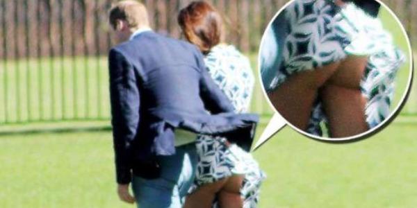 Kate Middleton mostra il lato B, anche se involontariamente