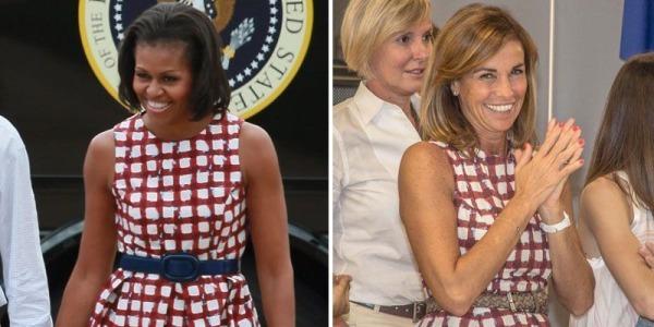 Cristina Parodi veste da first lady (di Bergamo). La giornalista nei panni di Michelle Obama