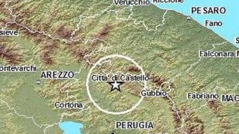 Terremoto di magnitudo 3.2 tra Pesaro e Perugia | Questa è la più forte di nove scosse