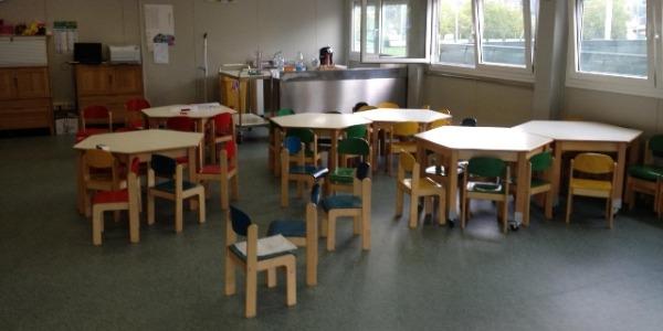 Il refettorio delle scuole di Torino ad uso esclusivo della mensa scolastica