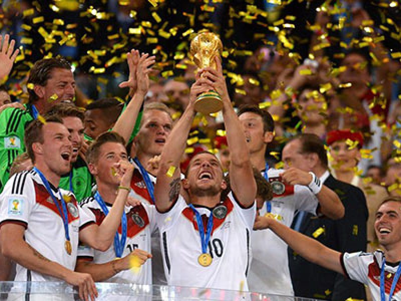 GERMANIA CAMPIONE DEL MONDO 1 A 0 ALL'ARGENTINA