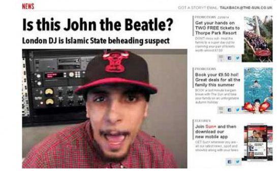 Caccia a John, il boia di James Foley | Per il Sun è un rapper inglese