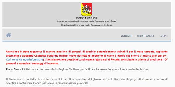 Piano Giovani Sicilia, non si fermano le polemiche | Il sito va in tilt, si va verso la class action